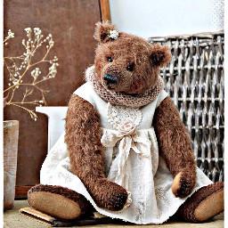 freetoedit gloria teddybear dress toy