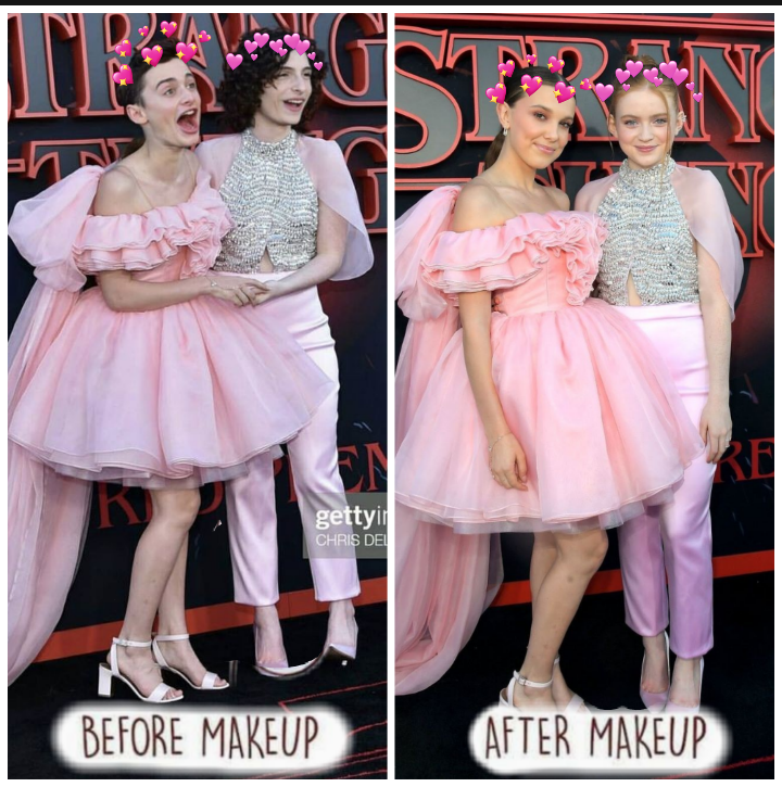 LOL THERE SO FUNNY Cuties milliebobbybrown sadiesink