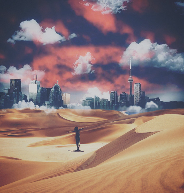 TraVel tO yOur DreaMs🦋 #mirage #desert #shanghai #imagination  #freetoedit