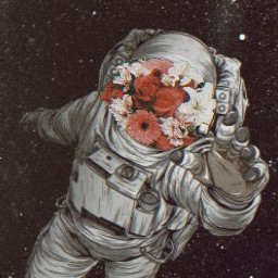 freetoedit astronaut astronauta flowers flores