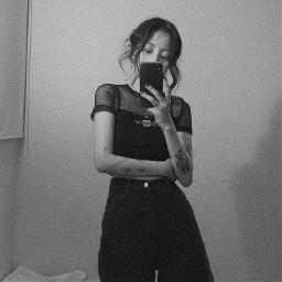 sadgirl black dark grunge grungegirl