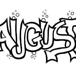 freetoedit august sketch typography grafitti