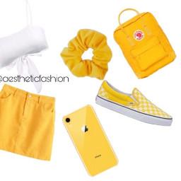 yellow white red background plain scrunchie