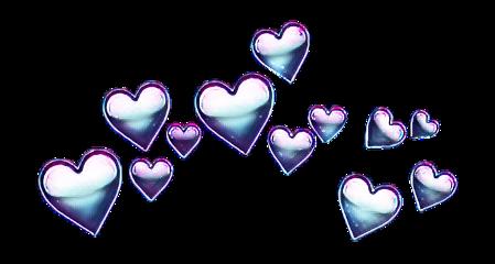 heartcrown hearts crown galaxy effects freetoedit
