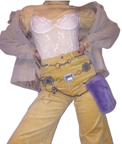 outfit outfits yellow white purple freetoedit