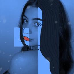 picsart edit girl blue caligirl