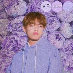freetoedit taehyung tae bts purple