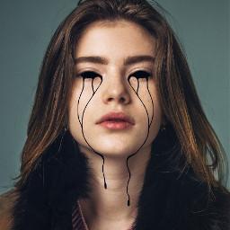 freetoedit girl cry billieeilish billie