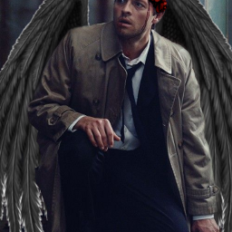 freetoedit supernatural castiel crownflower asas