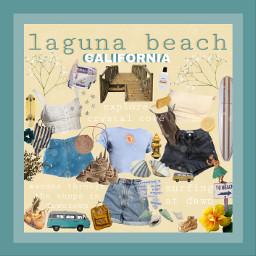 freetoedit moodboard yellow blue lagunabeach