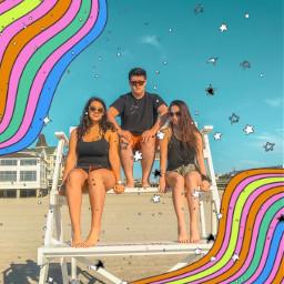 freetoedit beach friends summer colorful