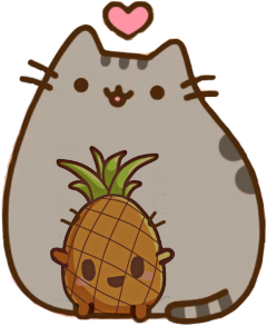 scpineapples pineapples pusheen pineapple heart freetoedit