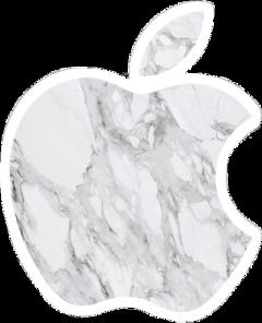 vsco aesthetic white marble apple freetoedit