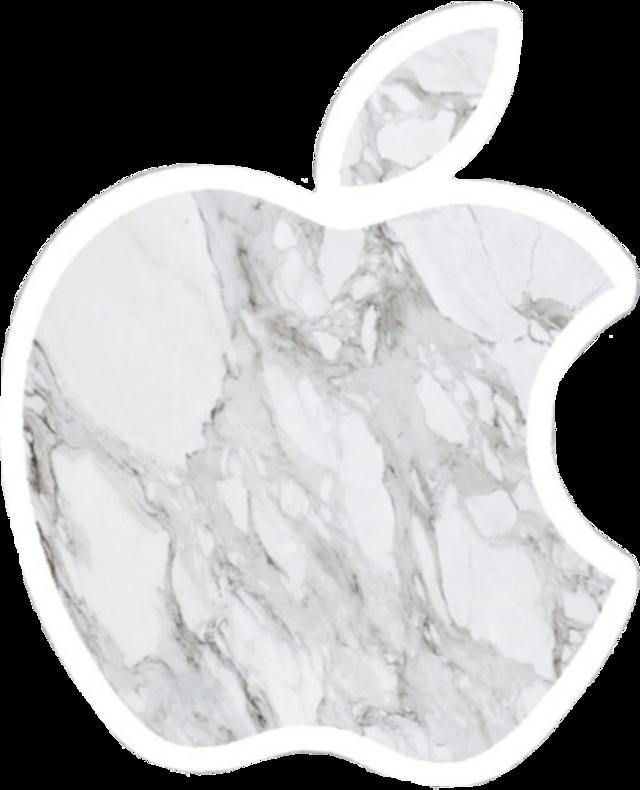 #vsco #aesthetic #white #marble #apple #applelogo #freetoedit