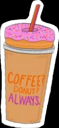 vsco aesthetic coffee dunkindonuts donut freetoedit