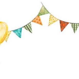 watercolor birthday banner balloons garland freetoedit