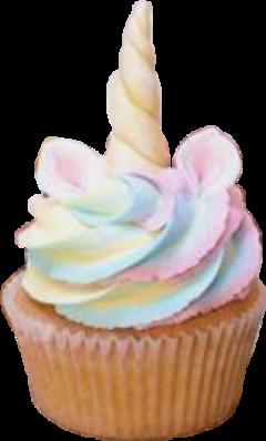 sticker unicorn einhorn cupcake muffin freetoedit