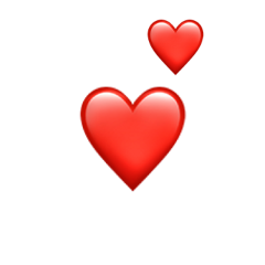 followme hearts red big small freetoedit