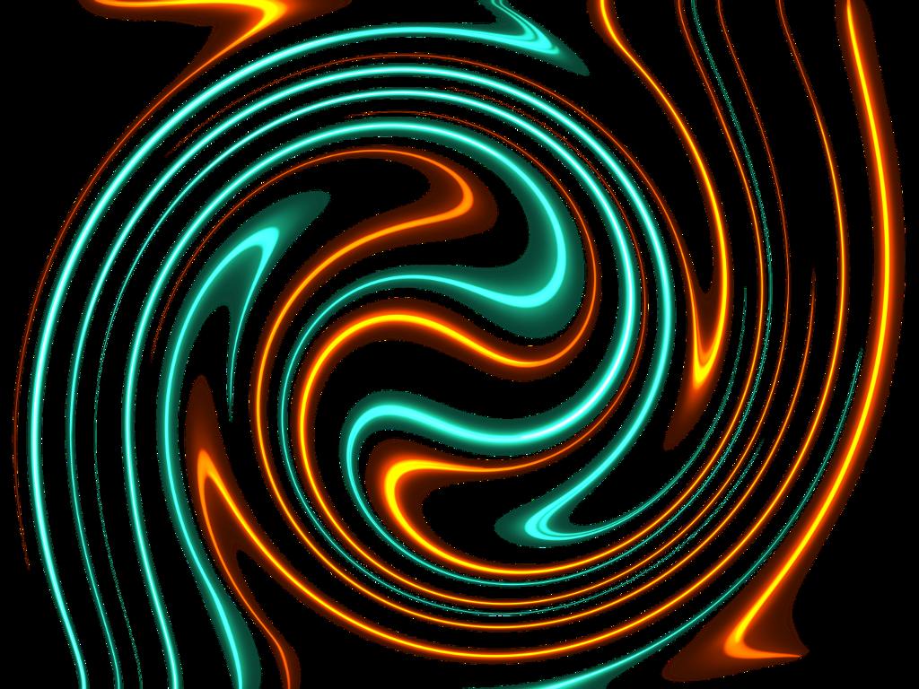 #procreate #procrastiartist #gold #yellow #orange #turquoise #spiral #swirl #light. #glow #neon #abstract #digital #paint #painting #freetoedit