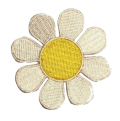 flower badge patch nature yellow freetoedit