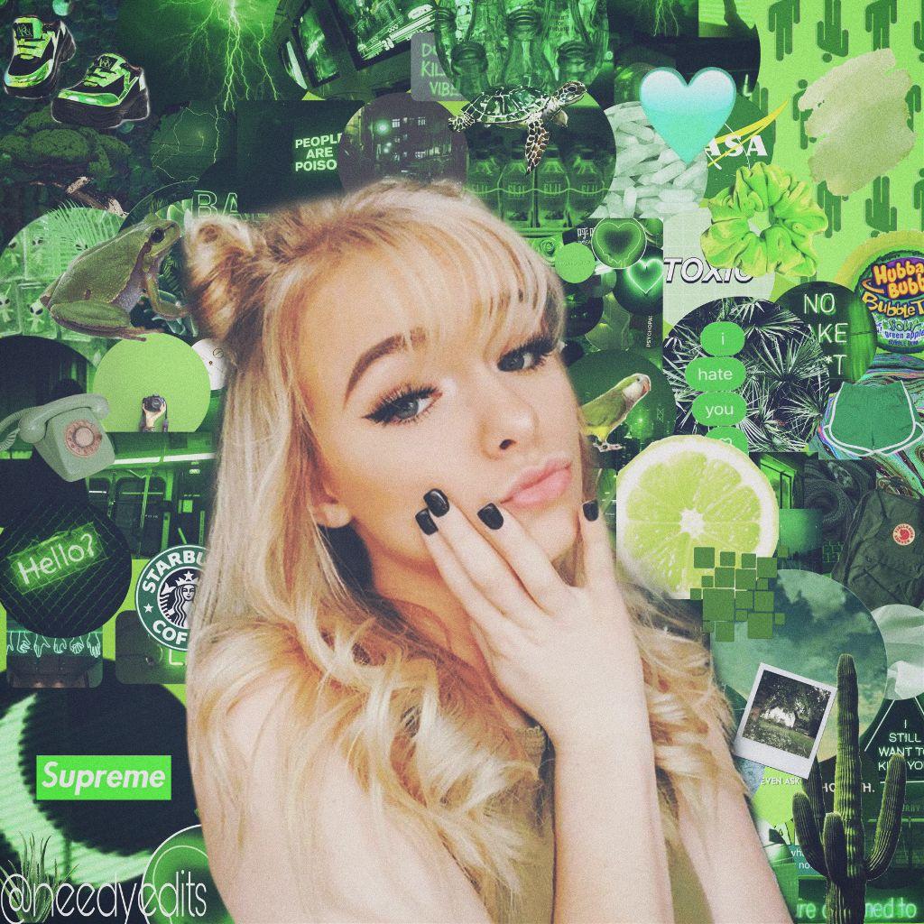 Zoelaverne Tumbler Makemefamous Wallper Green Cute Blac
