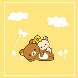 simple bear relaxing freetoedit ecrelaxwithrilakkuma