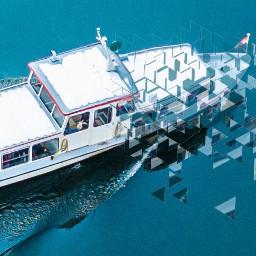 ircwatermirror watermirror boat fadeaway faded freetoedit