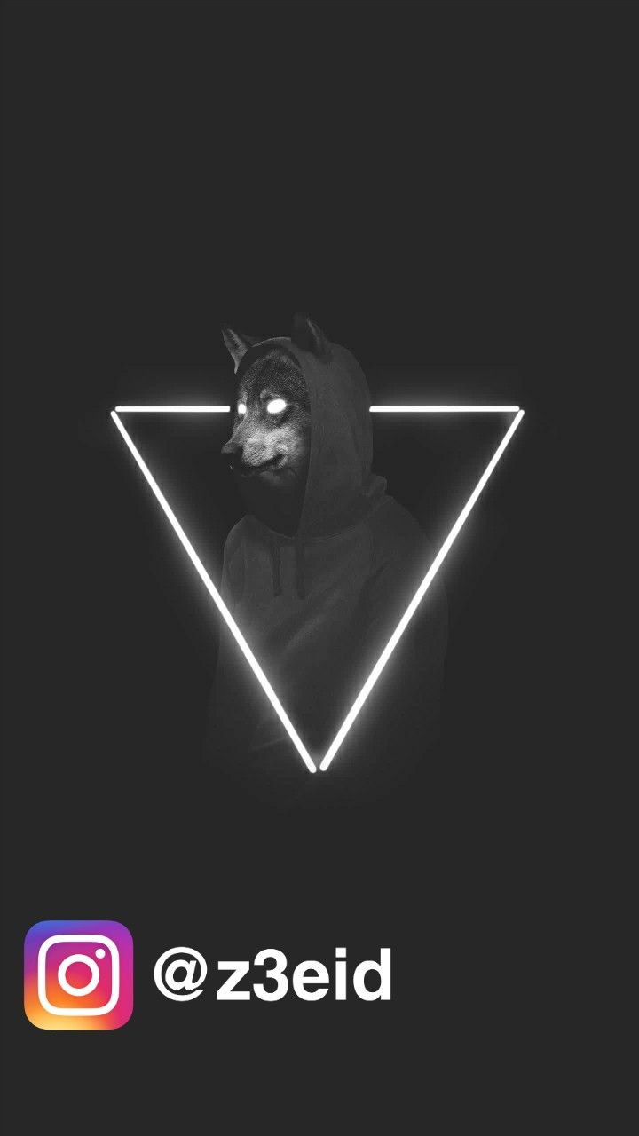 Wolf Hoodie Instagram Wallpaper Amoled Blackngrey