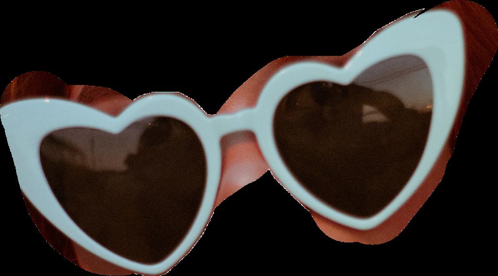 #sunglasses #heart #cute