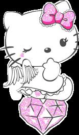 #hellokitty #pink #glitter #kawaii