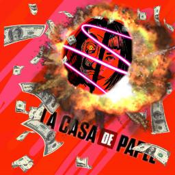 lacasadepapel bomb money fire police freetoedit