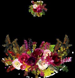 watercolor flowers floral bouquet maroon freetoedit