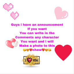 hearts announcements freetoedit