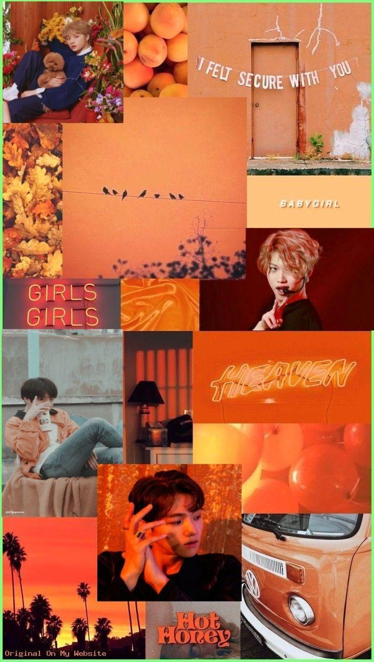 Orange Kpop Aesthetic Wallpaper Kpop Jungkook Bts Beom