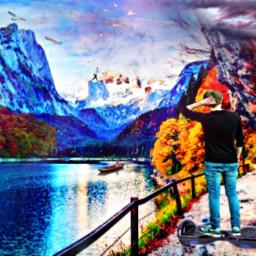 colorful colorfulclouds digitalart colorfulart watercolors freetoedit