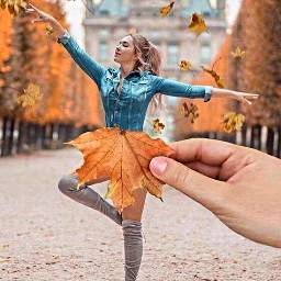 freetoedit dance dancing leafs fallleaves