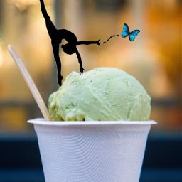 unsplash freetoedit icecream gymnast butterfly