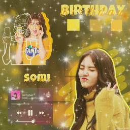 somi birthday somibirthday yellow edit