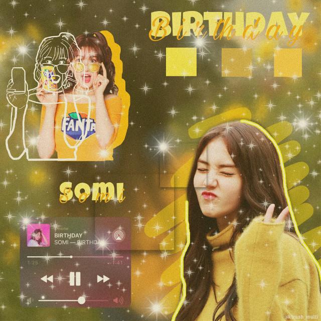 I love her 💛💛  #somi #birthday #somibirthday #yellow #edit #somiedit #kpop #kpopidol #aesthetic