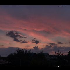 фон небо стикер пейзаж закат freetoedit