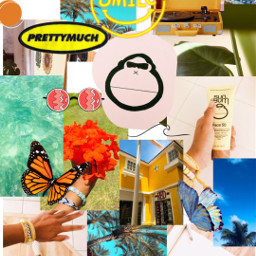 freetoedit collage summer butterfly sunbum