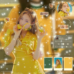 chungha snapping edit yellow aesthetic