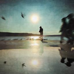 photographyart reflection blurred textured