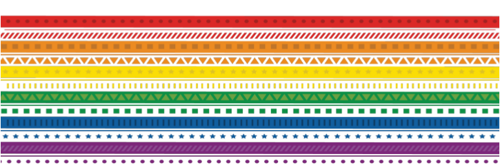 rainbow pride arcoiris tribal lines freetoedit