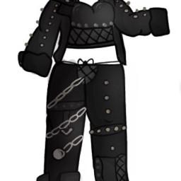 freetoedit black gachaclothes rockhard