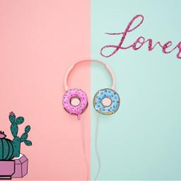 freetoedit donuts love kaktus