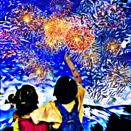 freetoedit childrens fireworks colorful painting