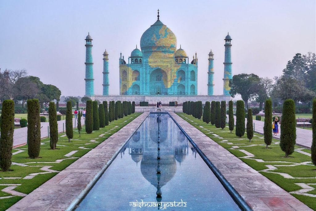 """ताजमहल"" (One of the seven wonders)       #freetoedit#7#sevenwonders#wonder#tajmahal#shahjahan#india#marble#architecture#indianarchitecture##reflection"