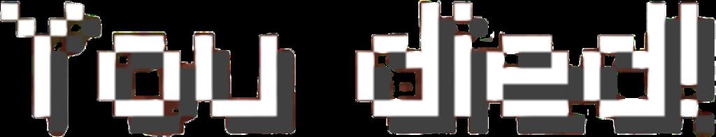 Minecraft Youdied Freetoedit Sticker By Courtney