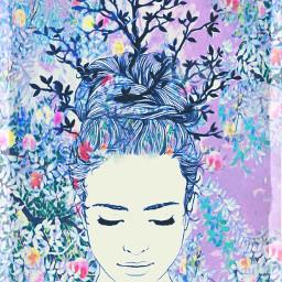 freetoedit floralcrown flowerz naturepatterns colorfulworld